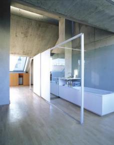 Das Bad - in die Wohnung integriert(Foto: Margherita Spiluttini)