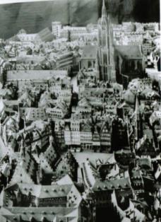 Abb. 1: Zentrum Frankfurts vor der Zerstörung
