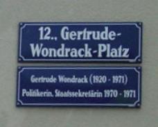 und Plätze, die nach berühmten Frauen benannt sind ...
