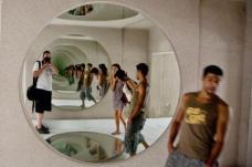 Spiegelinstallation im Inneren von Jameos del Aqua
