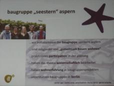 """Die """"Baugruppe Seestern Aspern"""" wurde von Mitgliedern des Vereins """"Gemeinsam-Bauen-Wohnen"""" (Werner Luger, Martha Wolzt,  Petra Hendrich, Thomas Dimov, Gernot Tscherteu)  gegründet um ein bis zwei Baugruppen in Aspern zu unterstützen."""