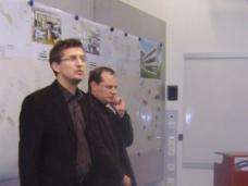 Das siegreiche Team kaufmann.wanas architekten (Mag.arch.Oliver Kaufmann, Mag.arch. Maximilian Wanas). Fotos: red
