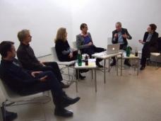 Diskussion am 27.01.2011 im HDA, v.l.: Hans Gangoly, Wolfgang Köck, Jasmin Leb-Idris, Michael Rieper, Michael Pech, Anna Popelka