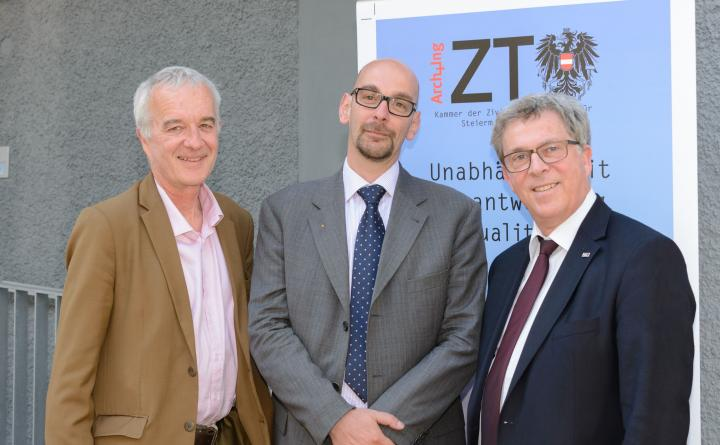 Gerald Fuxjäger (Präsident), Matthias Neubauer (Wahlkommissär), Reinhard Hohenwarter (VZ-Präsident)