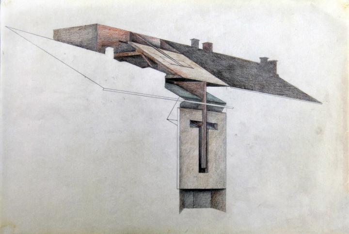 Raimund Abraham, Entwurf Hypo Lienz - Fassade, © AZW, Foto: Ch. Freyer
