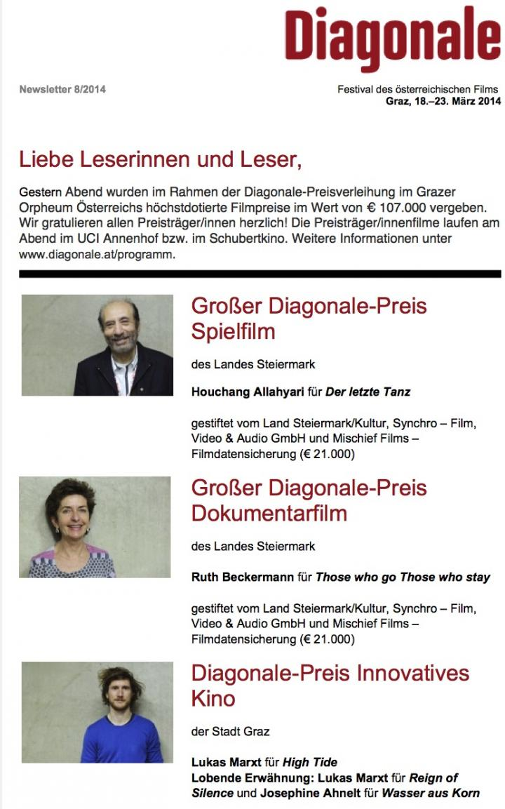 Diagonale-Newsletter