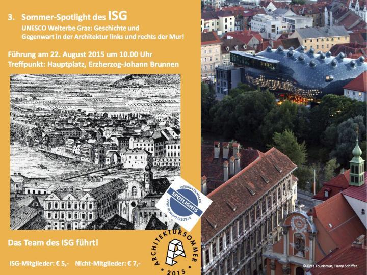 ISG Sommer Spotlight UNESCO Welterbe Graz