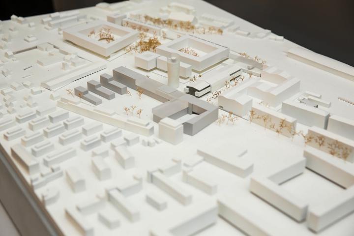 Modell Baufelder smart city nord, mitte, süd