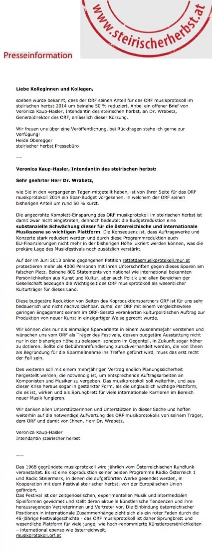 steirischer herbst - Pressinformation Kopie