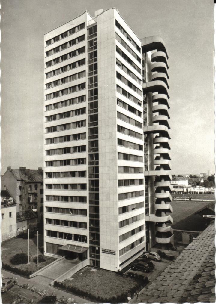 Studentenwohnheim hafnerriegel der erstling der grazer for Architektur 1960