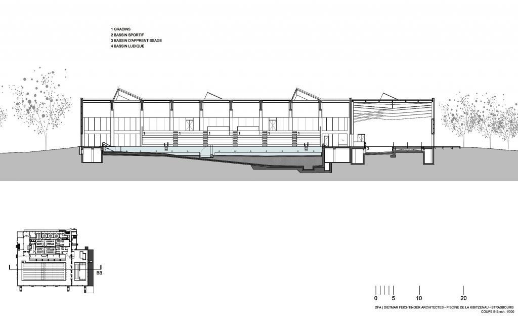 Schwimmbad stra burg kibitzenau - Schwimmbad architektur ...