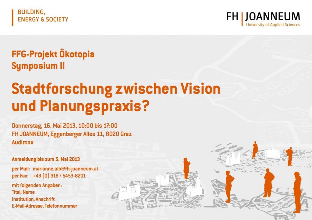 Stadtforschung zwischen vision und planungspraxis for Fh studium architektur