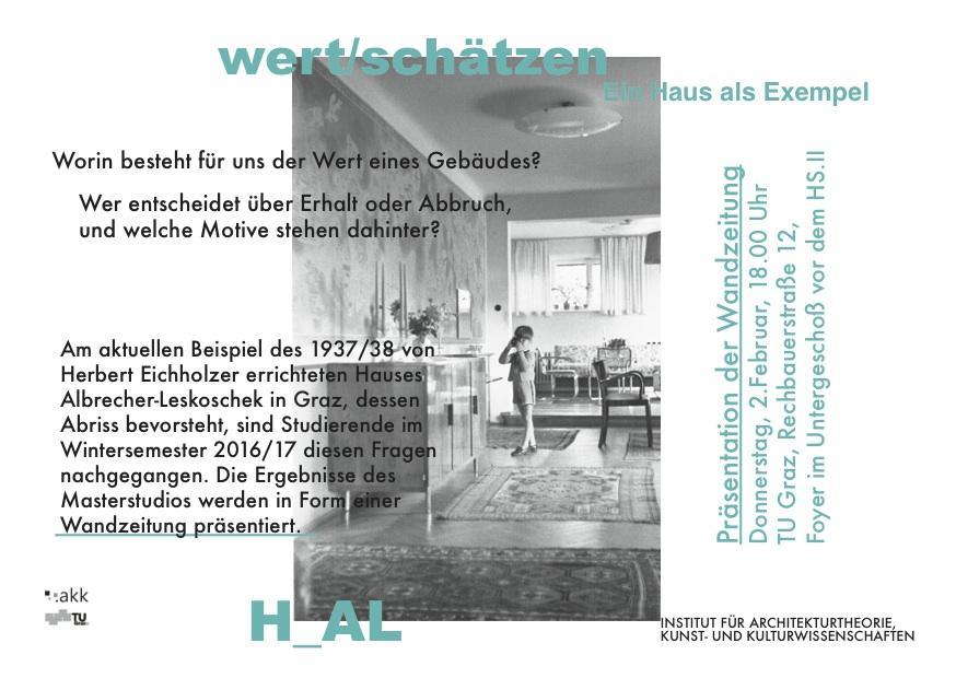 TU Graz wert schätzen – Ein Haus als Exempel